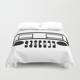 Jeep of road Duvet Cover