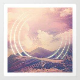 Radiate Mountain Art Print