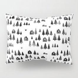 House Trees Pattern Pillow Sham
