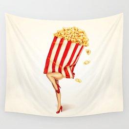 Popcorn Girl Wall Tapestry