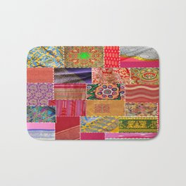Boho Sari Patchwork Quilt Bath Mat