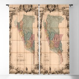 Mapa del Peru (1862) Blackout Curtain