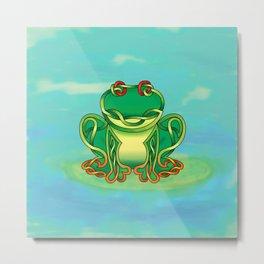 Frog Knot Metal Print