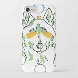 Siberian Husky Dog Drawing, Colorful and Whimsical iPhone Case