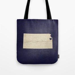 Kansas City, Kansas Love Map Art Tote Bag