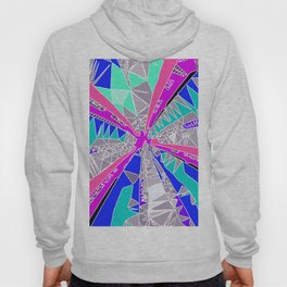 psychedelic geometric pattern drawing abstract background in blue pink purple Hoody