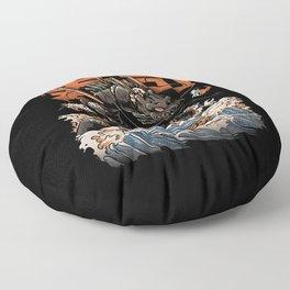 The Black Sushi Dragon Floor Pillow