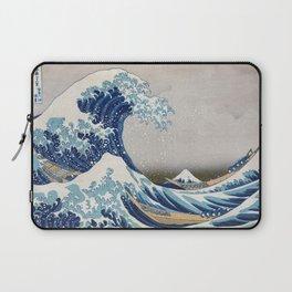 Under the Wave off Kanagawa - The Great Wave - Katsushika Hokusai Laptop Sleeve
