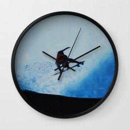 BLUE SURF Wall Clock