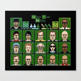 8 Bit Bad Guys Canvas Print