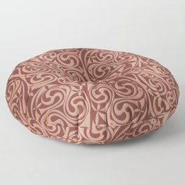 Celtic Warlord copper Floor Pillow