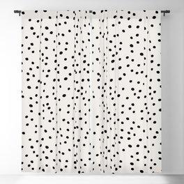 Preppy Spots Digita Drawing Blackout Curtain