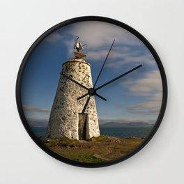 Twr Bach On Ynys Llanddwyn Island Wall Clock