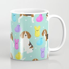 Beagle marshmallow peeps candy spring easter treat tradition for dog lovers Coffee Mug
