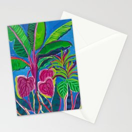 Banana Plant Print Stationery Cards