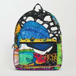 Colorful Tropical Fish Backpack
