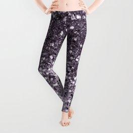 Sparkling Lavender Lady Glitter #2 #shiny #decor #art #society6 Leggings
