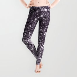 Sparkling Lavender Lady Glitter #2 #shiny #decor #art #society6 Leggings