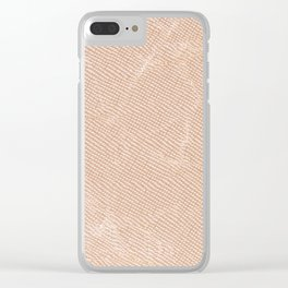 Ecru canvas cloth texture abstract Clear iPhone Case