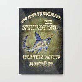 Sammy the Swordfish Metal Print