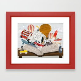 the big magic adventure book Framed Art Print