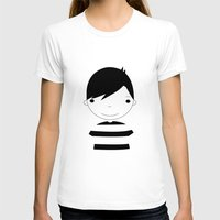 boy T-shirts featuring Boy by stavrina inno