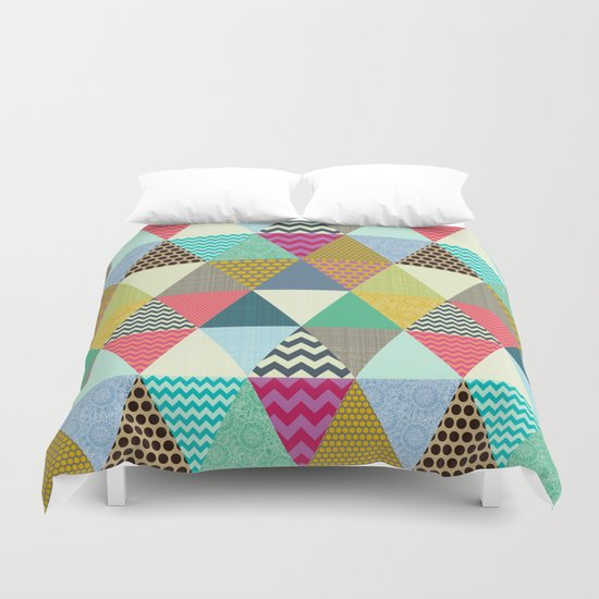 New York Beauty triangles Duvet Cover