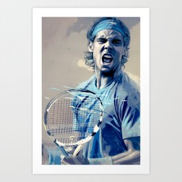 Rafa Nadal -Roger Federer Art Print