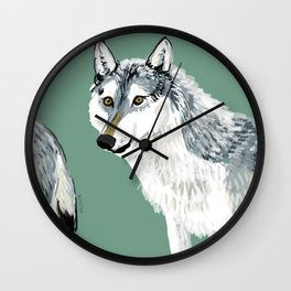 Totem Alberta Wolf Wall Clock