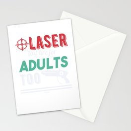 Lasertag is also for adults Stationery Cards