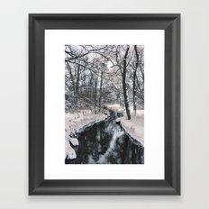 Almost frozen (3\4-BW, HDR) Framed Art Print