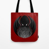 cthulhu Tote Bags featuring Cthulhu by tuditees