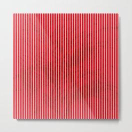 Red grunge stripes on white background Metal Print