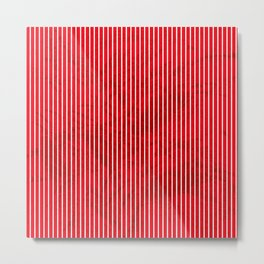 Red grunge stripes on white background Metal Print