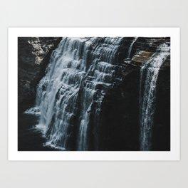 Middle Letchworth Falls Art Print