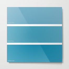Liquid Blue Metal Print