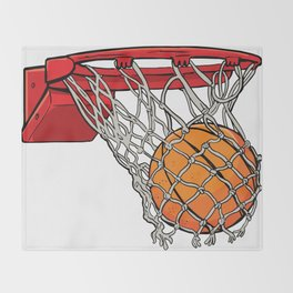 ball basket Throw Blanket