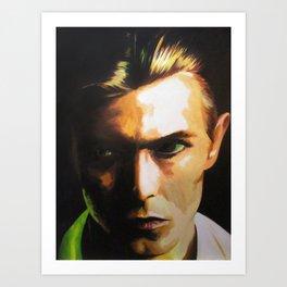 Bowie (Tribute Series) original oil painting Art Print
