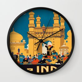 Vintage poster - India Wall Clock