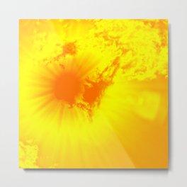 Bright yellow sun flash Metal Print