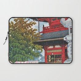 12,000pixel-500dpi - Kawase Hasui - Asakusa Morning Rain - Digital Remastered Edition Laptop Sleeve