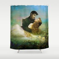hamlet Shower Curtains featuring Love me tender by milyKnight