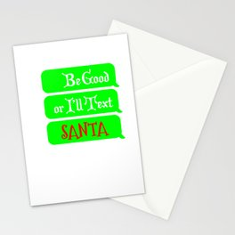 Funny Christmas Shirt for Parents and Teachers I'll Text Santa Stationery Cards