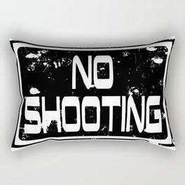 No shooting sign Rectangular Pillow