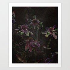 Flowers and Tea Art Print