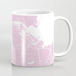 Amsterdam Pink on White Street Map Coffee Mug