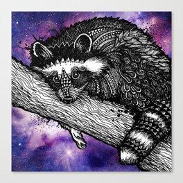 Galaxy Raccoon Canvas Print