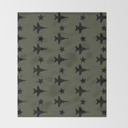 F-18 Hornet Fighter Jet Pattern Throw Blanket