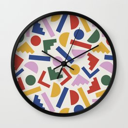 Colorful Geometric Shapes Wall Clock