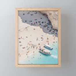to the beach Framed Mini Art Print